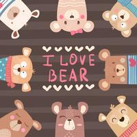 Süße Winter Bär Zeichen
