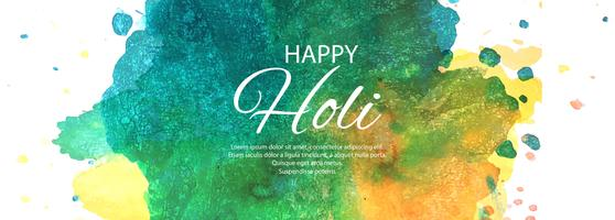 Bunter Fahnendesign des glücklichen indischen Frühlingsfestivals Holi vektor