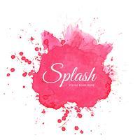 Elegant vattenfärg rosa stänk vektor