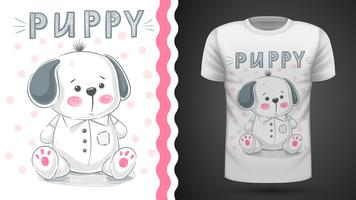 Hund, valp - idé för tryckt-shirt