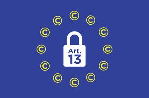 Artikel 13 konceptuell illustration.