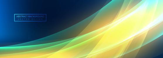 Abstrakter bunter glänzender Wellenfahnenvektor