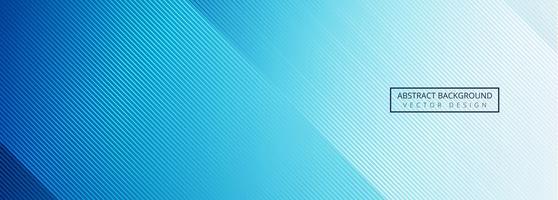 Vacker glänsande blå linjer banner design vektor