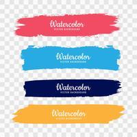 Hand rita färgglada vattenfärg stämpel uppsättning vektor