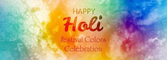 Bunter Fahnenhintergrund glücklichen holi Festivals vektor