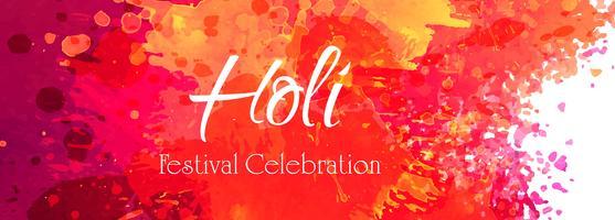 Indischer Festival glücklicher Holi-Feierfahnenvektor vektor