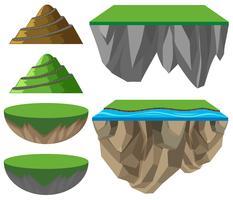 Olika format av berg och slätter vektor