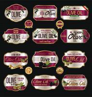 Retro Weinlesehintergrundsammlung des Olivenöls