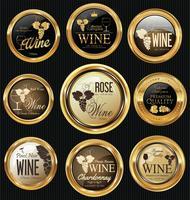 Goldener Luxus-Weinetikett