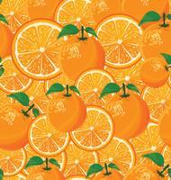 En sömlös bakgrund av apelsiner vektor