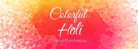 Indischer Festival glücklicher Holi-Feierfahnenvektor