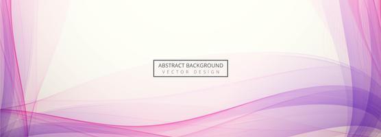 Abstrakte Welle Header Set Design-Vorlage