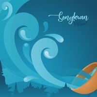 Songkran-Hintergrund vektor