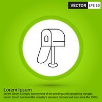 Perfekt svart ikon, vektor eller piktogram illustration på grön bakgrund.