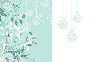 Floral Christmas Wallpaper och Vector Pack