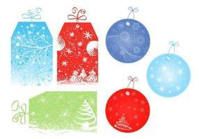 Weihnachten Tag und Label Vector Pack