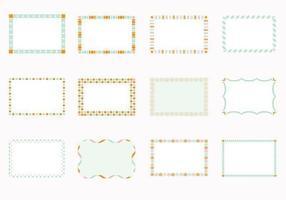 Funky Square Frames Vektoren