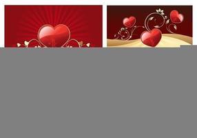 Valentinsdag Hjärtan Bakgrund Vector Pack