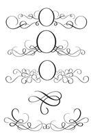Satz von dekorativen Rahmen und Grenzen Kunst. Kalligraphie, die Vektorillustration EPS10 beschriftet