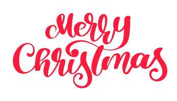 text Glad jul hand skriftlig kalligrafi bokstäver. handgjord vektor illustration. Rolig pensel bläck typografi för foto överlägg, t-shirt tryck, flygblad, affisch design