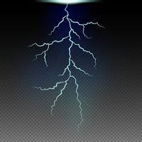 Blitzmuster im schwarzen Himmel