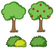 Satz einfacher Baum vektor