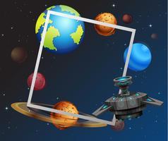 Space tema ramkoncept