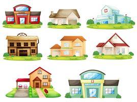 Häuser und anderes Gebäude vektor
