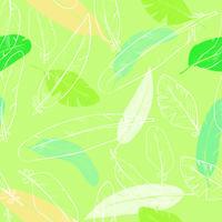 nahtloses Muster mit Federn des Raben. Pastellfarbe