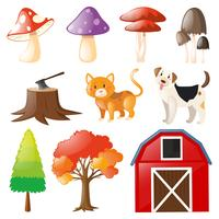 Husdjur och gård element vektor