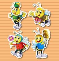 Süße Biene in Kostümen