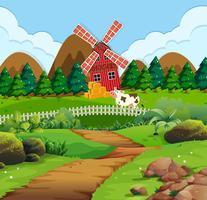 En väg till lantbruksgård vektor