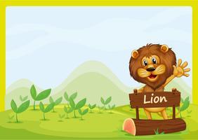 En lejon och skylten vektor