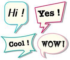 Sprechblasen mit unterschiedlichen Ausdrücken