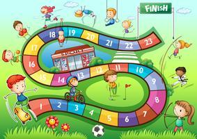 Boardgame mall med sport tema