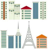 Modernes Gebäude auf weißem Hintergrund vektor