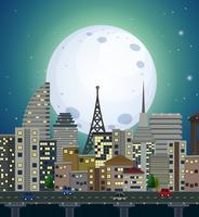 En urbana nattvy vektor
