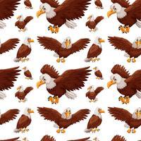 Nahtloser Hintergrund mit dem fliegenden Adler vektor