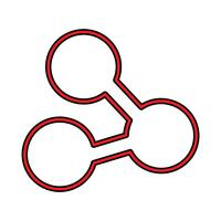 Link Perfect Icon Vector oder Pigtogram Illustration in gefüllten Stil