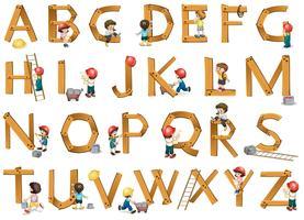 Alphabete vektor