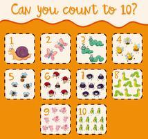 Zählen bis zehn mit vielen Fehlern vektor