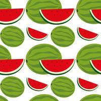 Sömlös bakgrundsdesign med vattenmelon vektor