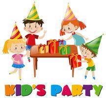 Kinder bei der Geburtstagsfeier vektor