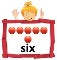 Mädchen mit der Nummer sechs Banner vektor