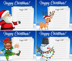 Frohe Weihnachten Kartenvorlage vektor
