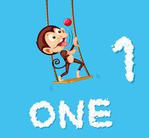 Monkey jonglering en boll