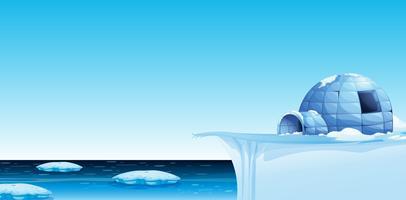 Ein kalter Nordpolhintergrund vektor