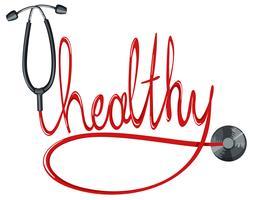 Stethoskop und gesundes Wort vektor