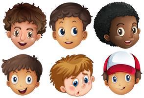 International Boy Facial på vit bakgrund vektor