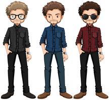 Hipster Männer vektor